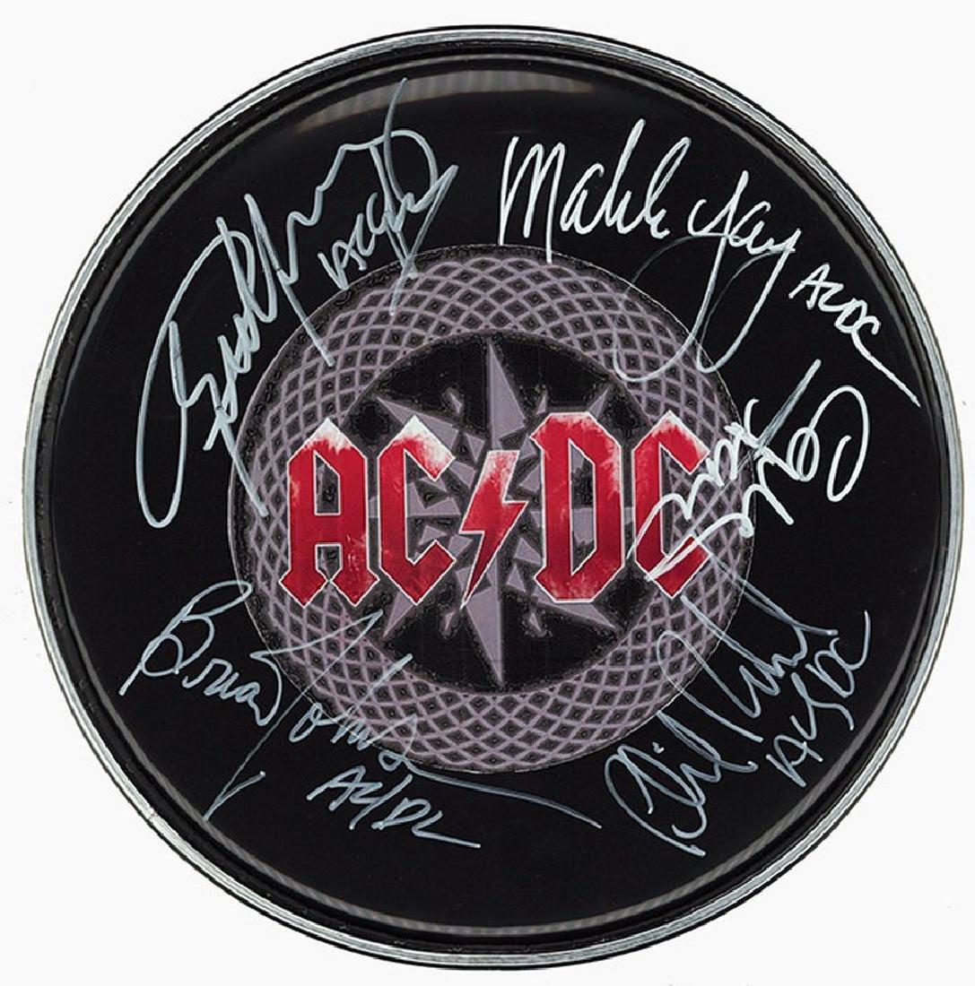 AC/DC Signed Drum Head