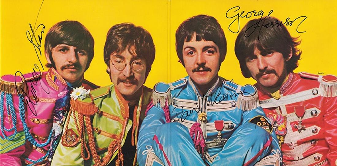Beatles, McCartney, Harrison, Starr Signed Sergeant