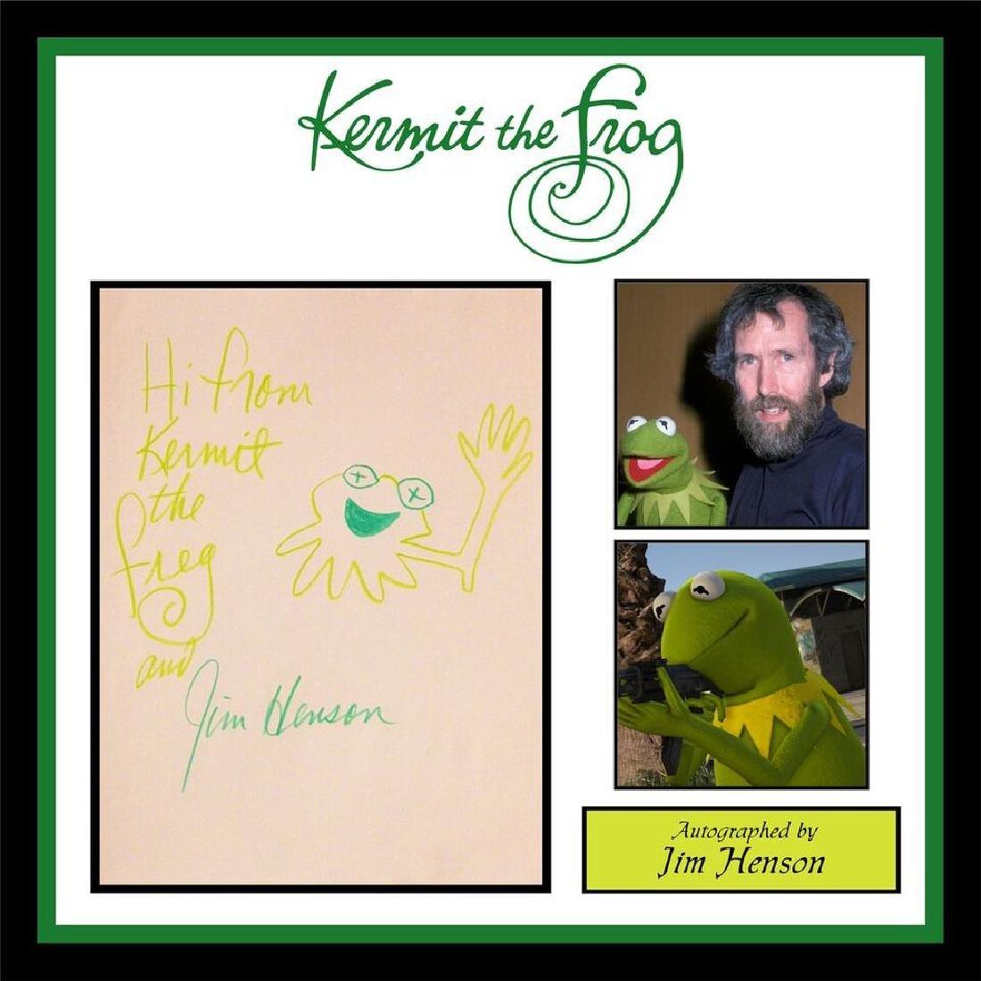 Drawing by Jim Henson of Kermit Saying 'Hi From Kermit