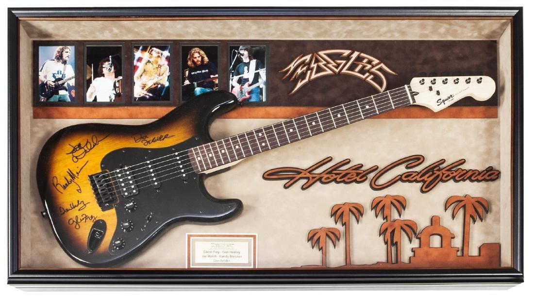 Eagles Signed and Framed Guitar Hotel California