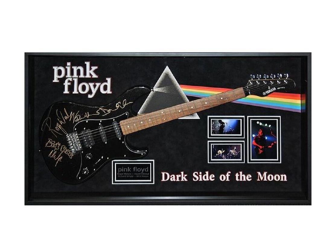 Pink Floyd Signed and Framed Guitar Dark Side Of The