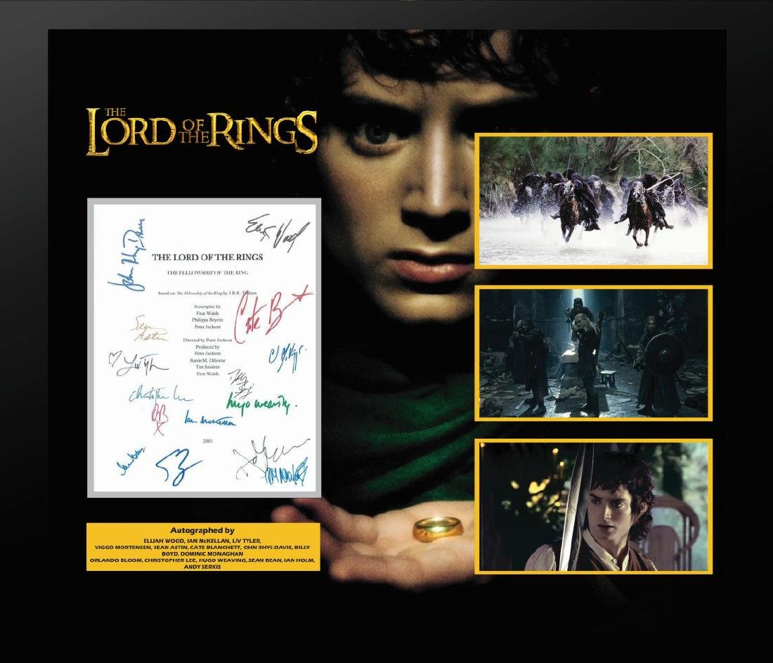 Lord of the Rings Signed Script