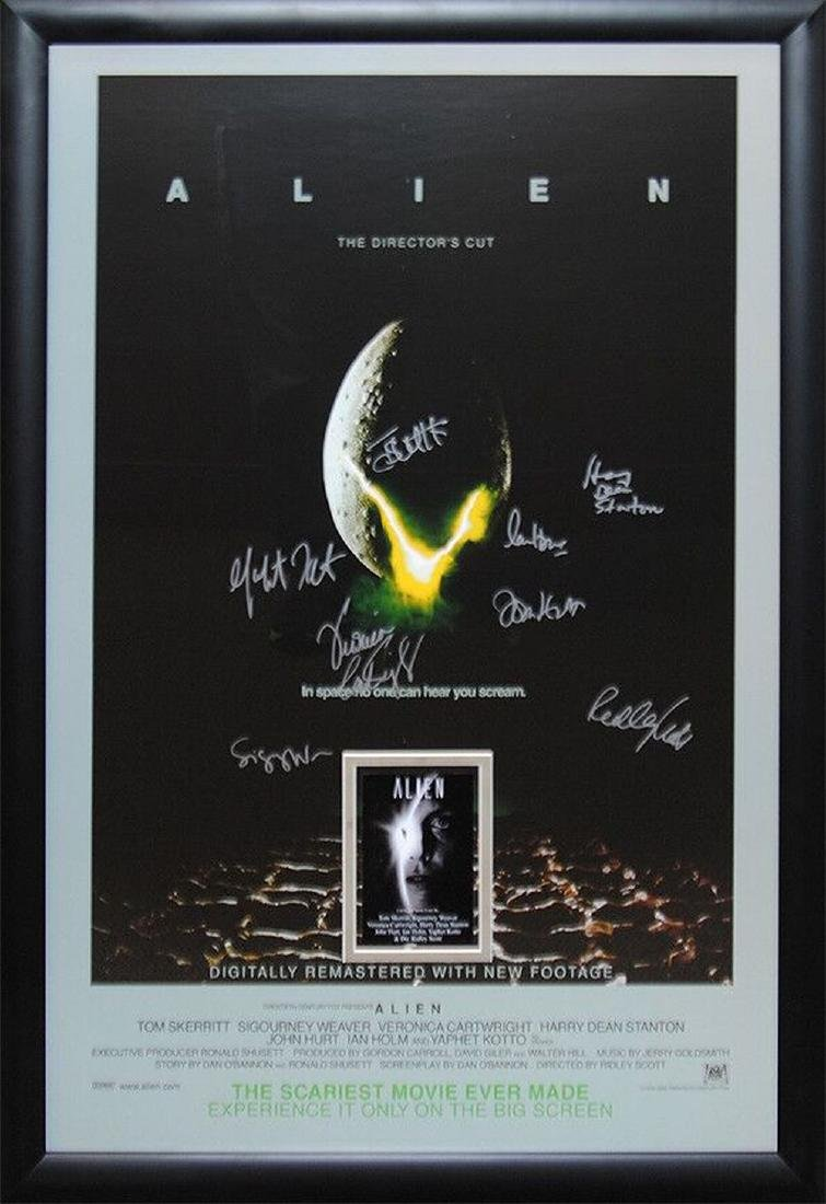 Alien Signed Movie Poster