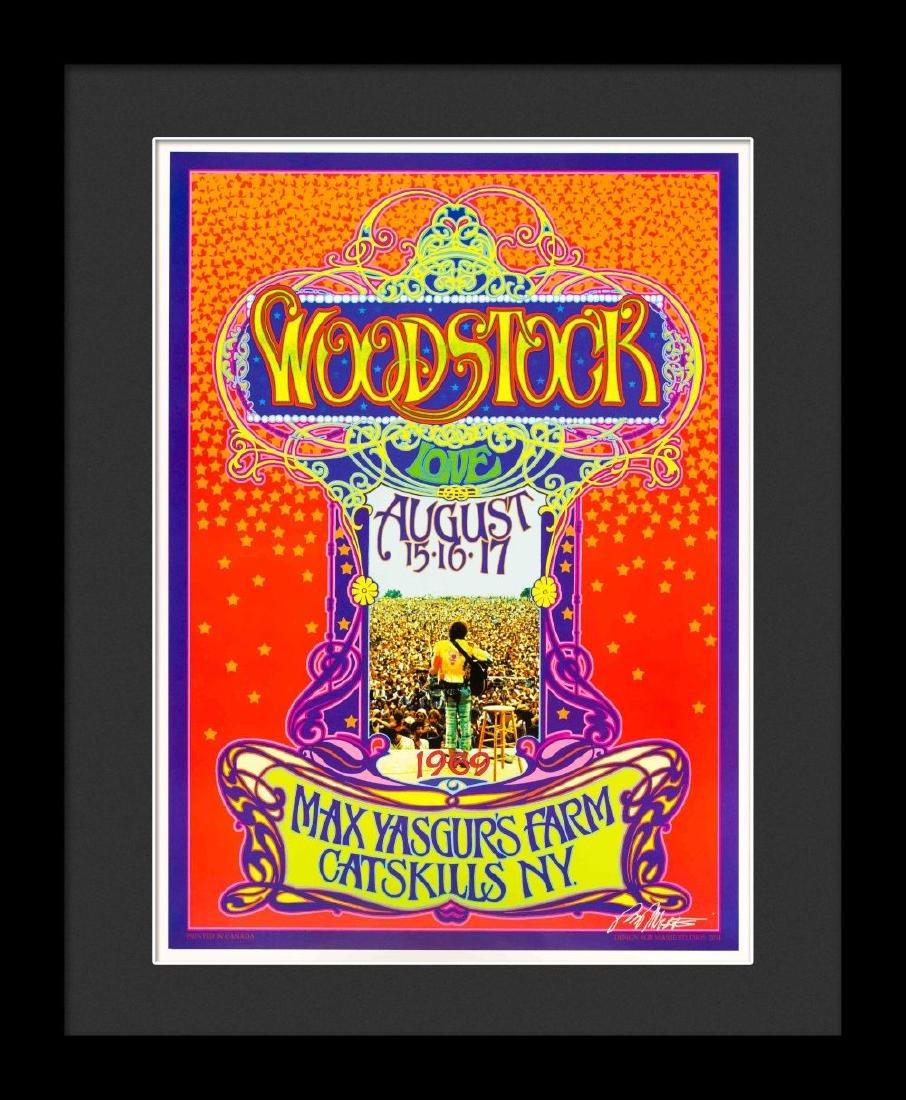 """Bob Masse """"Woodstock"""" Framed Poster"""