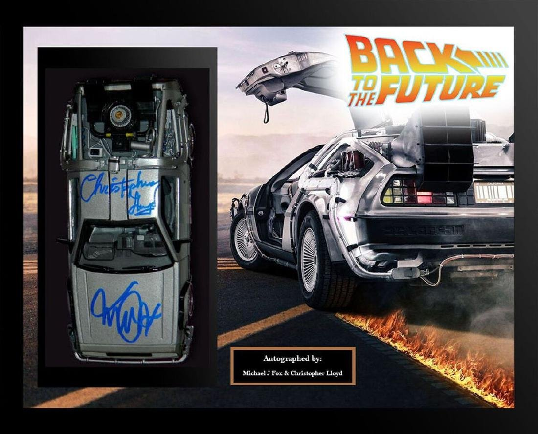 Back to the Future Framed Signed Delorian Collage