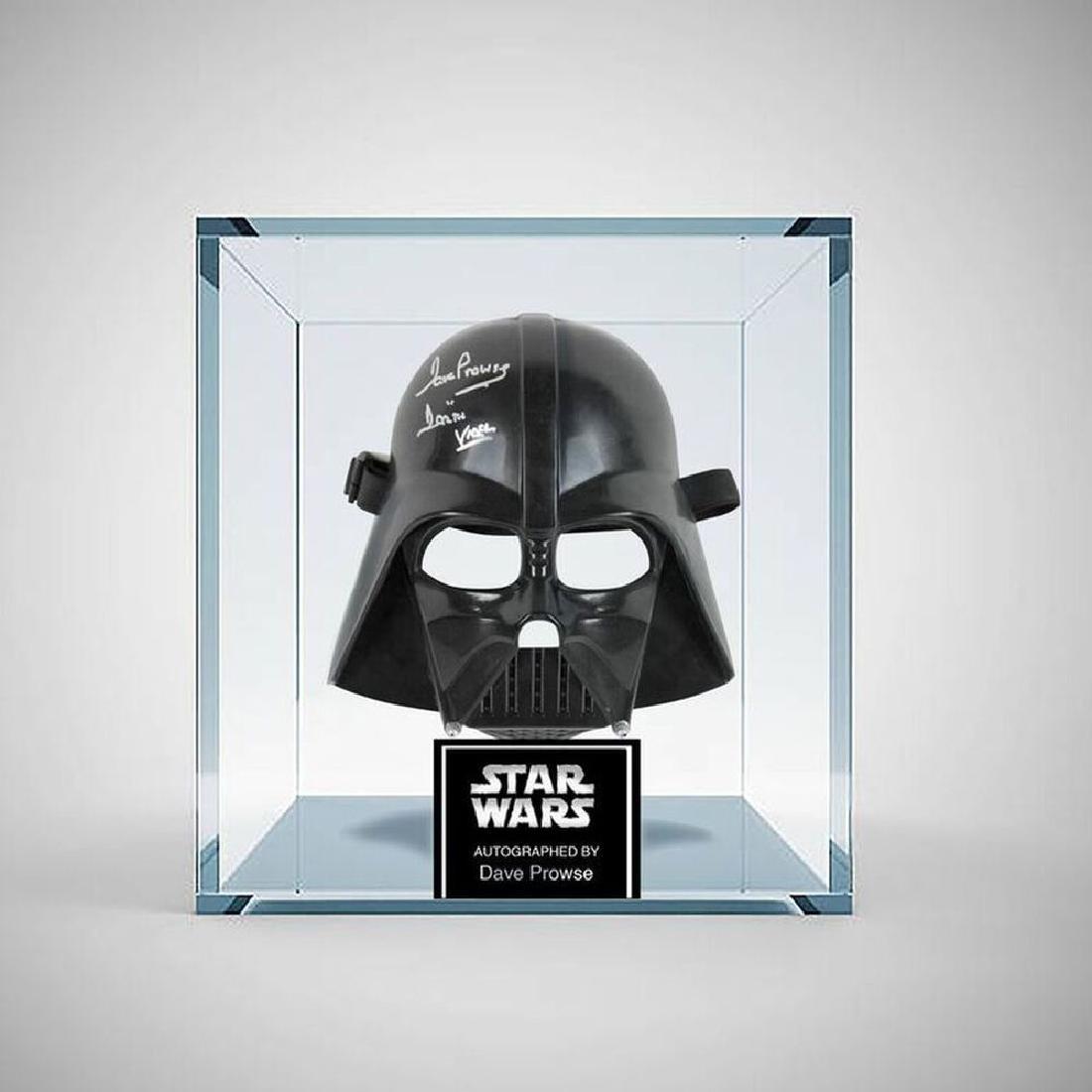 Star Wars' Darth Vader Signed Mask