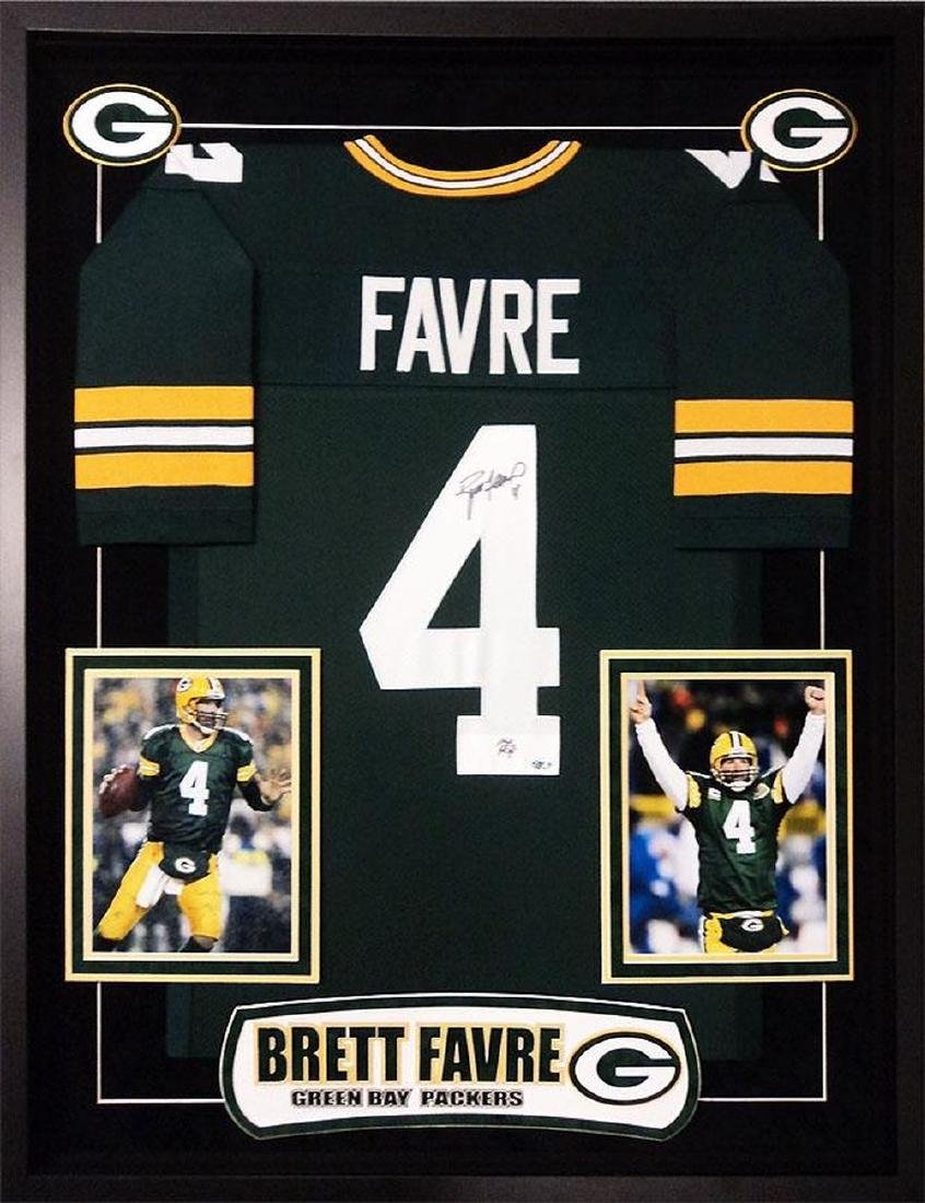 new arrival 3268d c8960 Brett Favre Signed Green Bay Packers Jersey