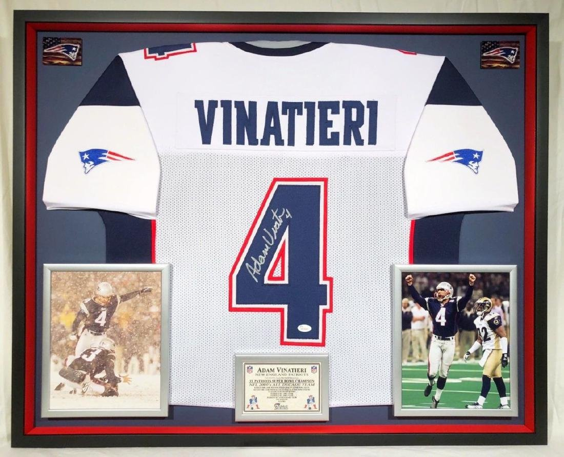 best service 30b68 4cd95 Adam Vinatieri Signed Patriots Jersey