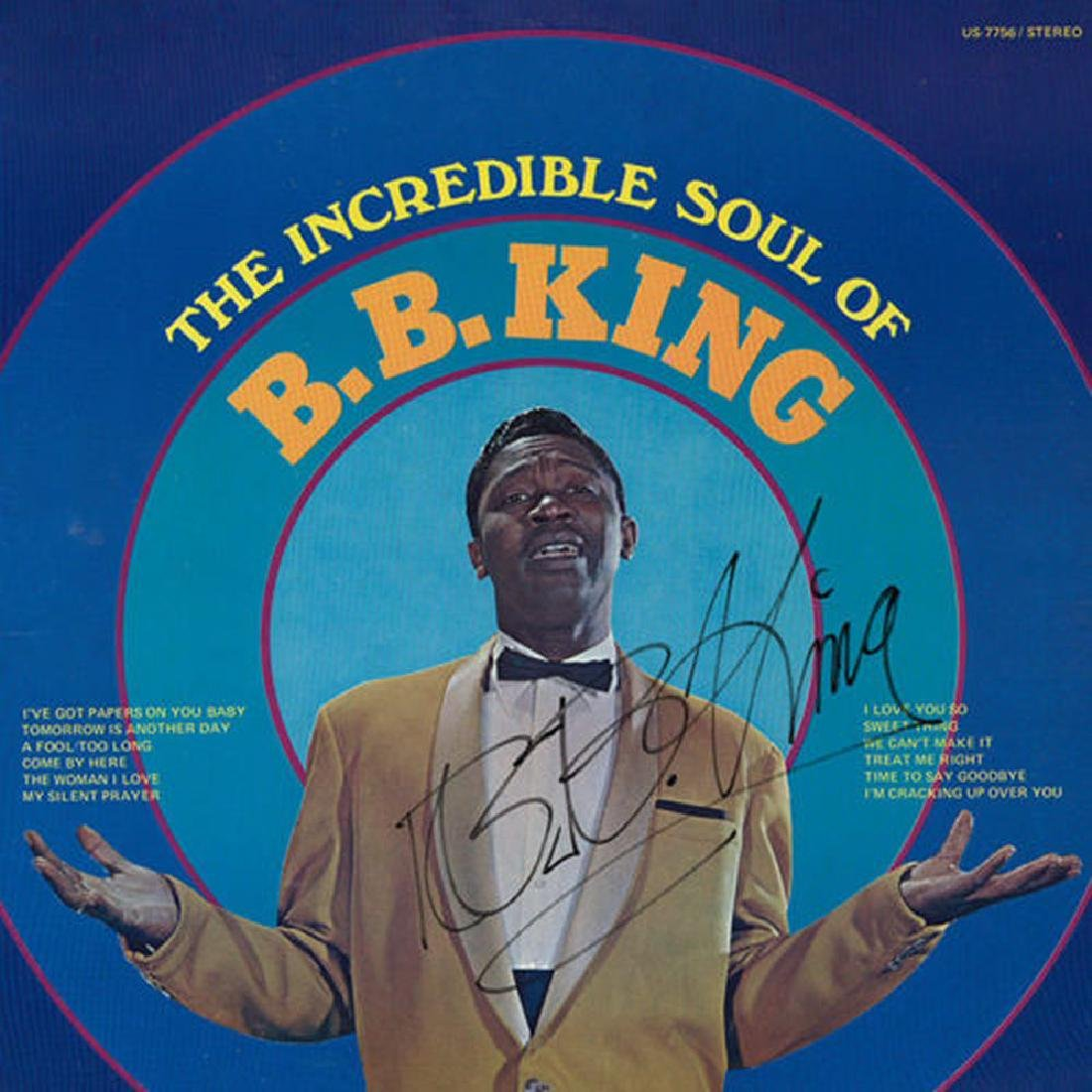 B.B. King Signed The Incredible Soul Album