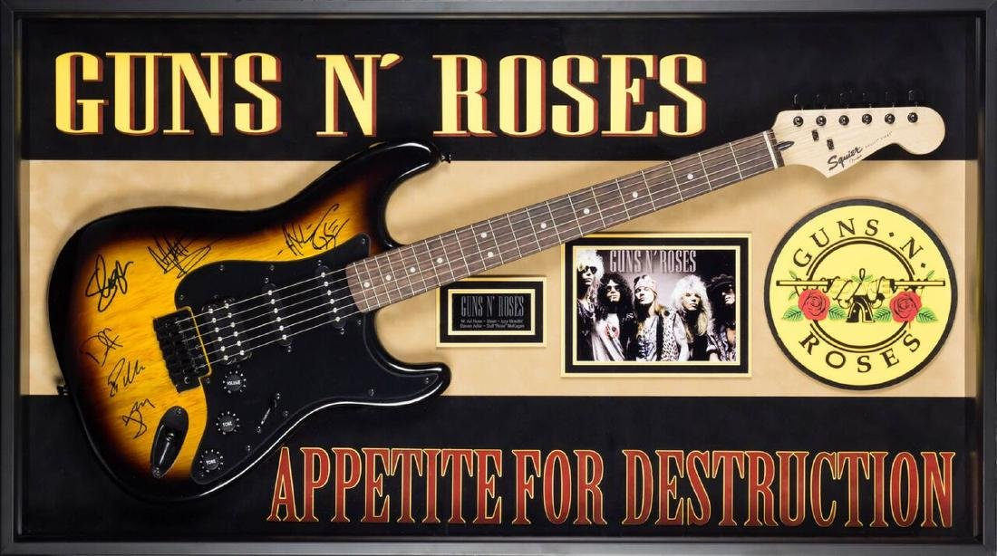 """Guns N' Roses """"Appetite for Destruction"""" Autographed"""