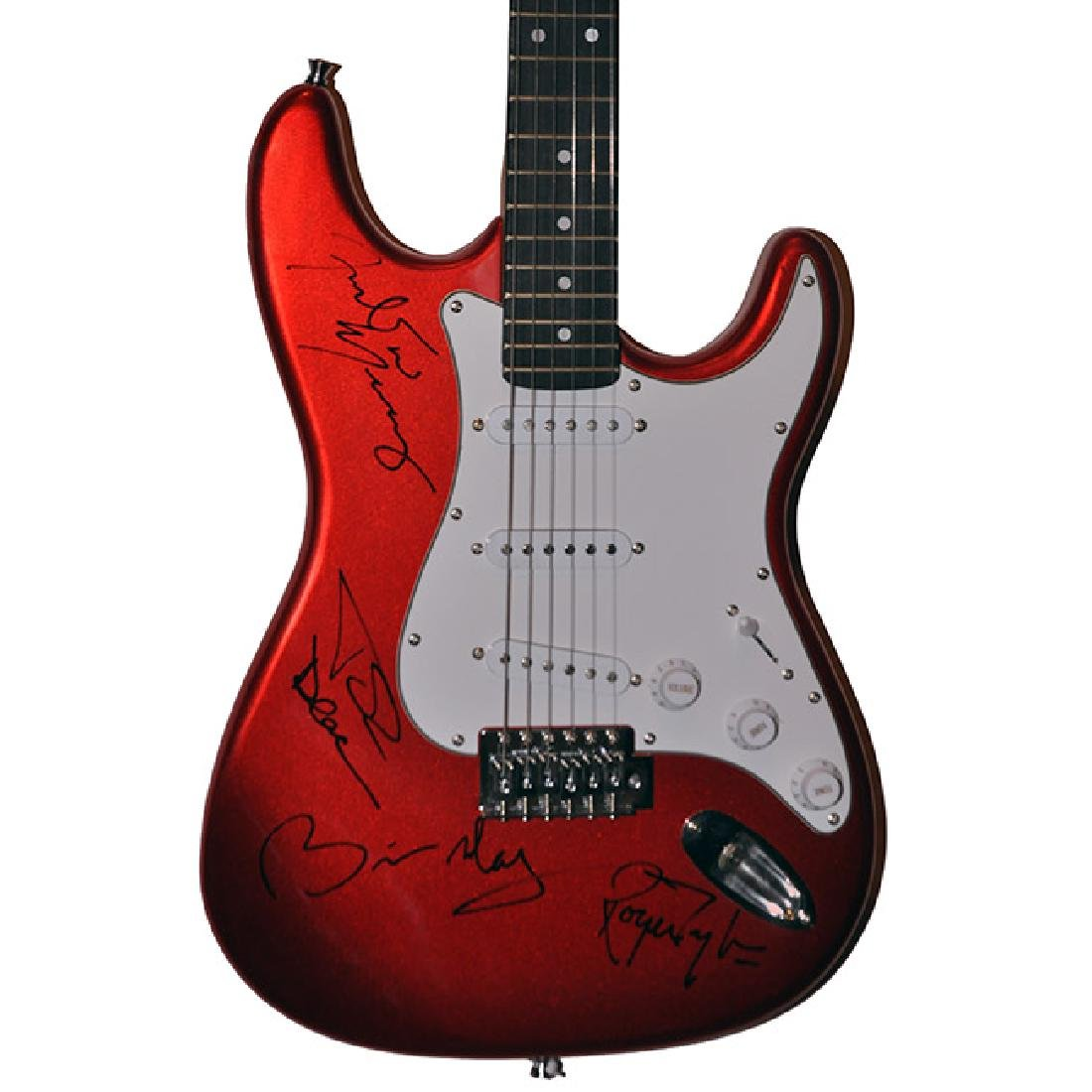 Queen Signed Red Electric Guitar