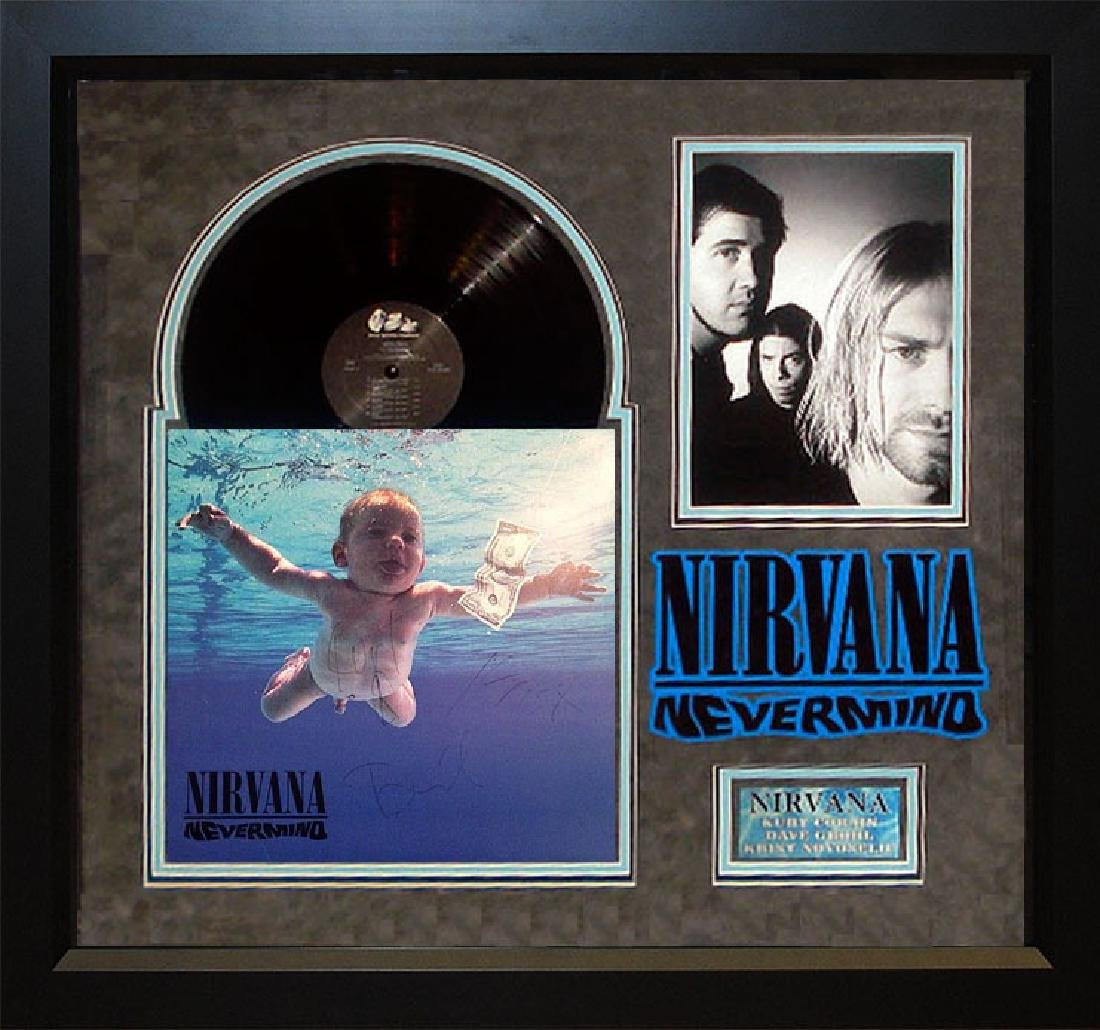 Nirvana Signed and Framed Nevermind Album
