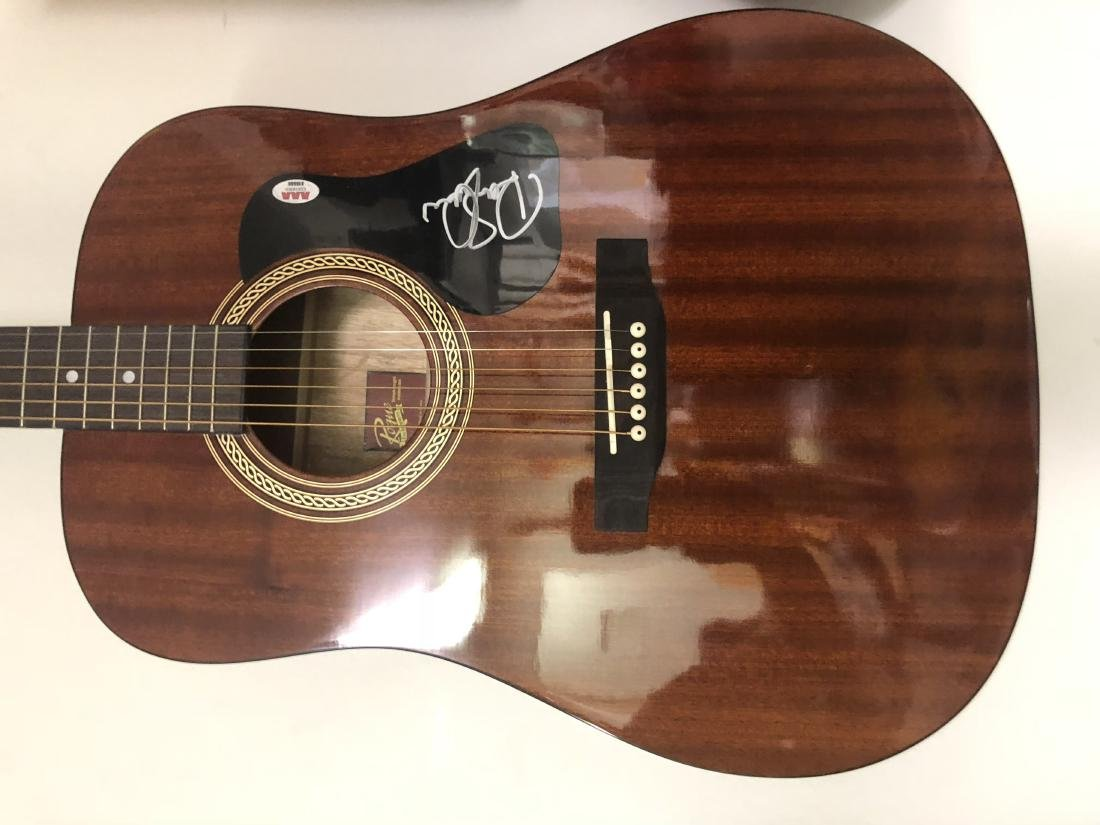 Robert Plant Signed Acoustic Guitar