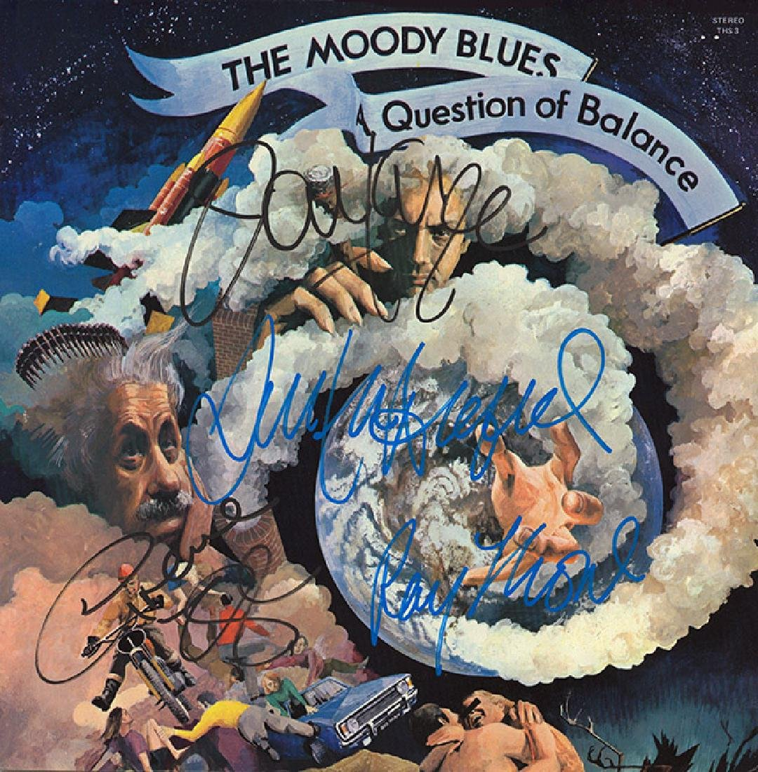 Moody Blues Signed Question of Balance Album