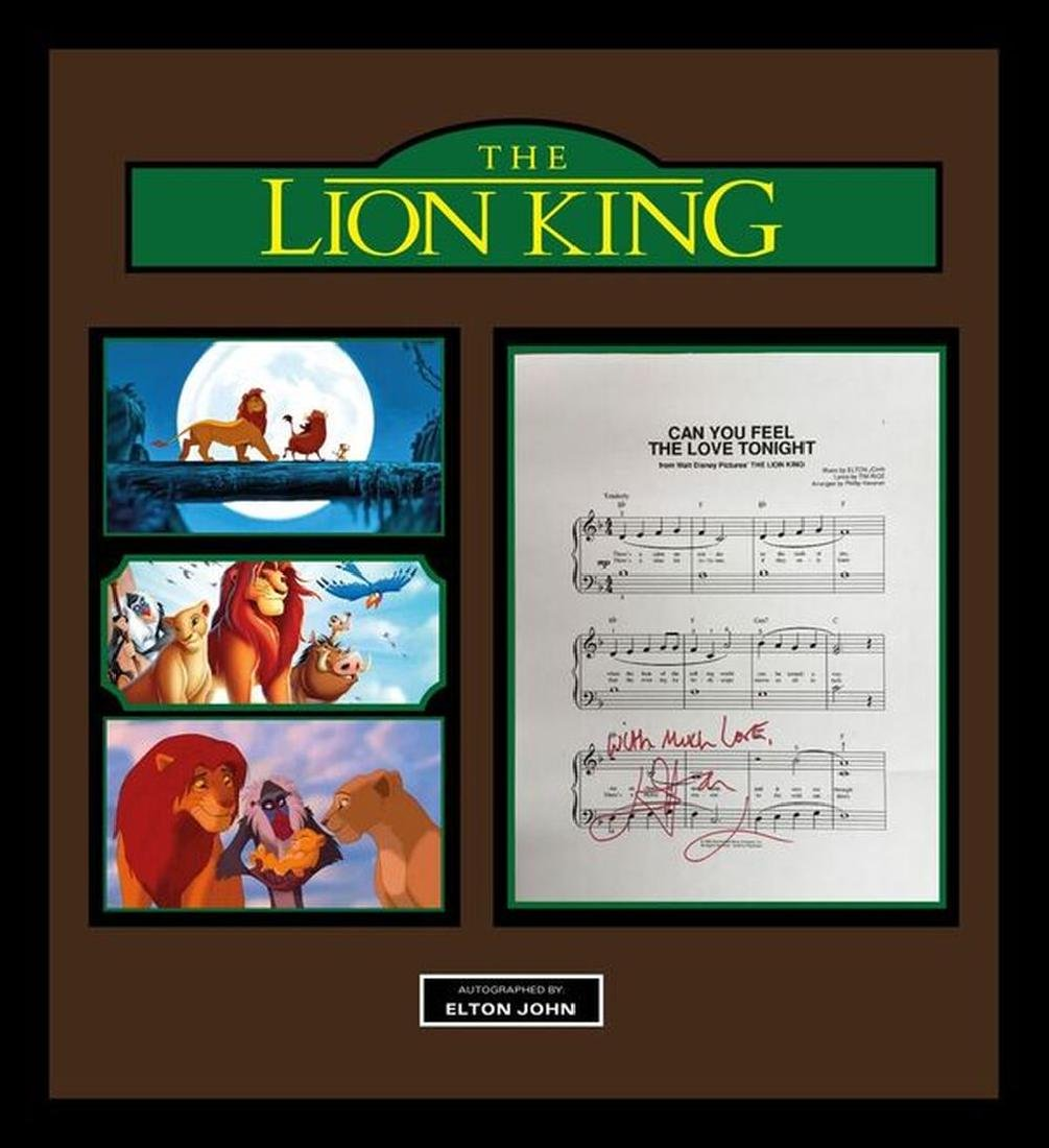 """The Lion King """"Can You Feel The Love Tonight"""" lyric"""