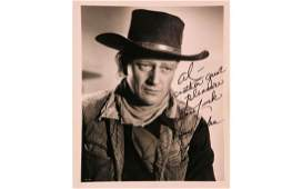 John Wayne Signed Photo