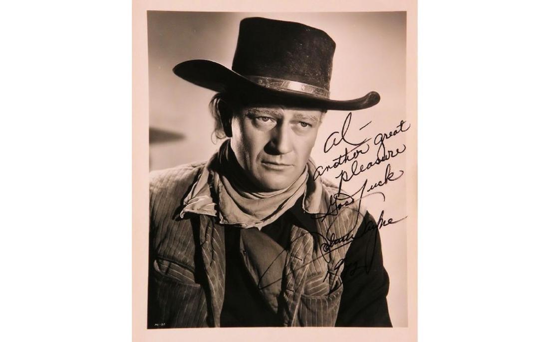 John Wayne Signed Photo