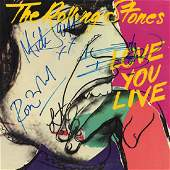 The Rolling Stones Signed Love You Live Album
