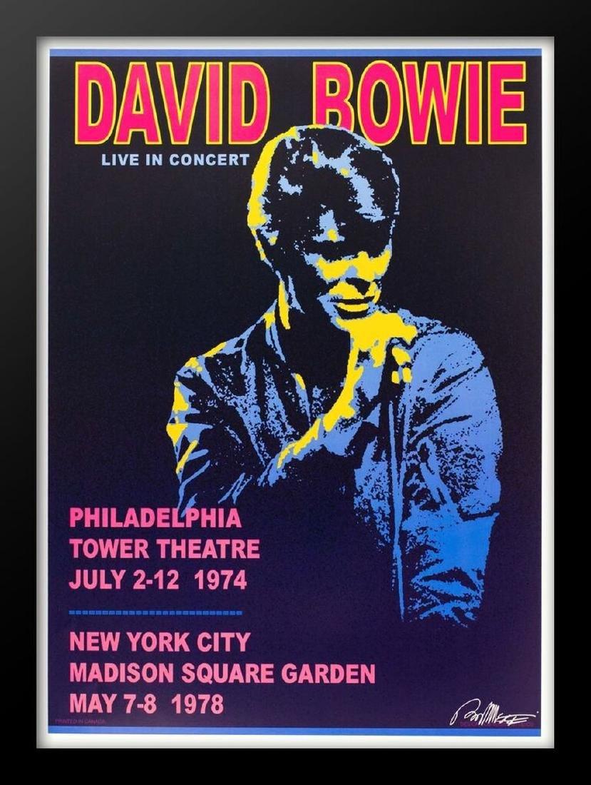 Concert poster designed for David Bowie Live in Concert