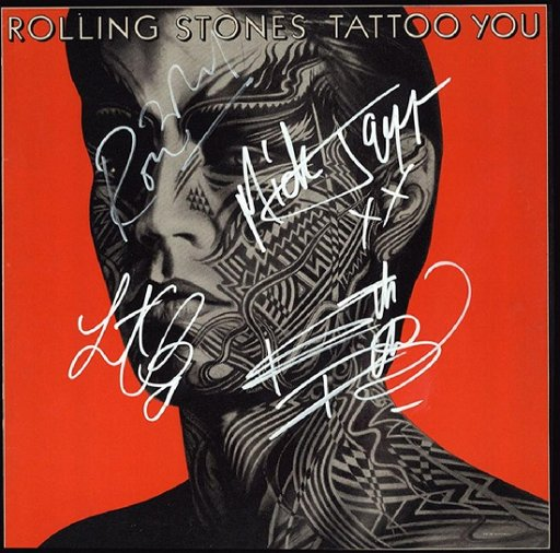 The Rolling Stones Signed Tattoo You Album