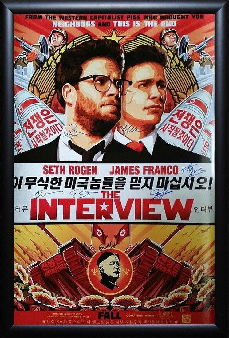 Interview Signed Movie Poster