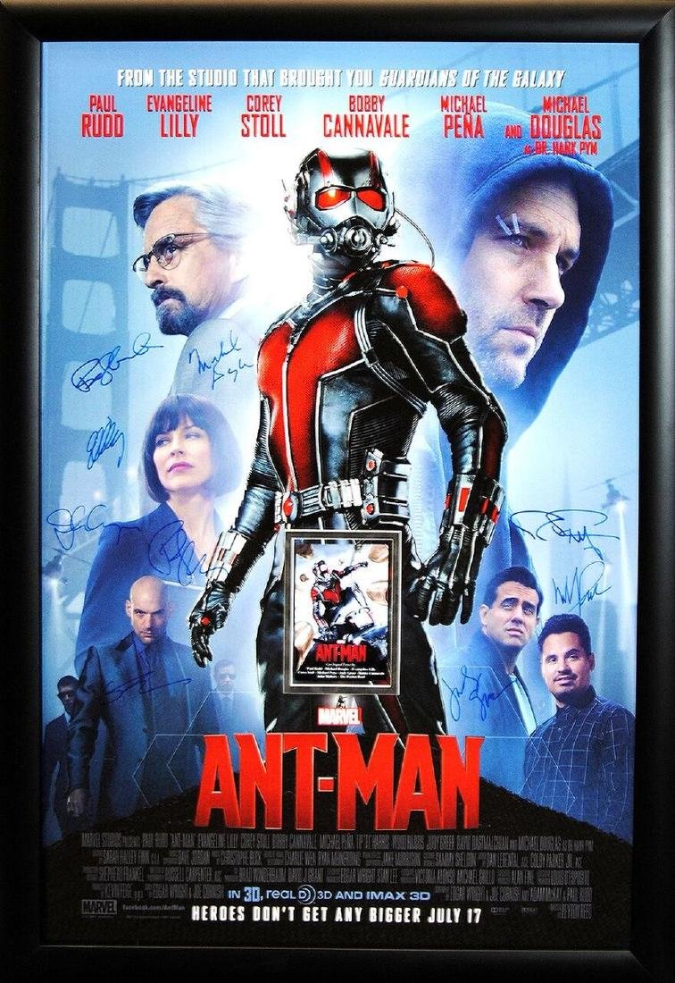 Ant-Man Signed Movie Poster
