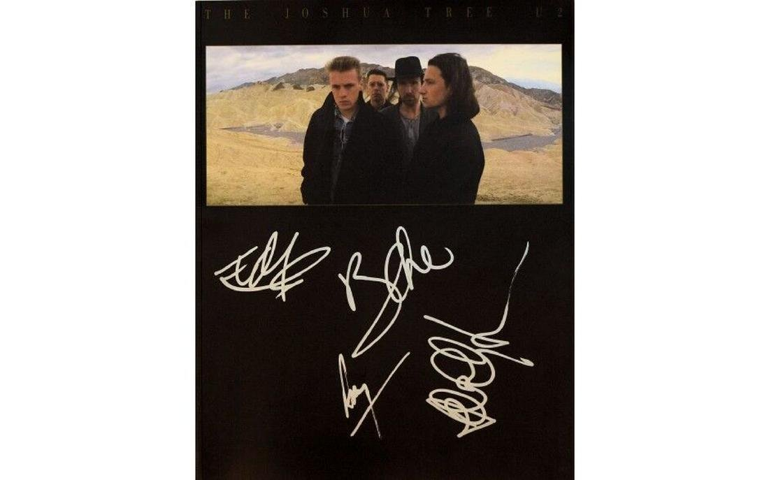 U2 Signed The Joshua Tree Insert Booklet