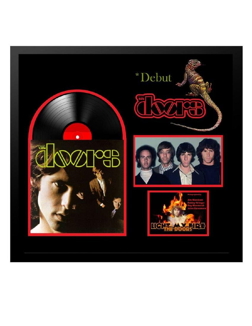 The Doors Signed and Framed Self-Titled Album