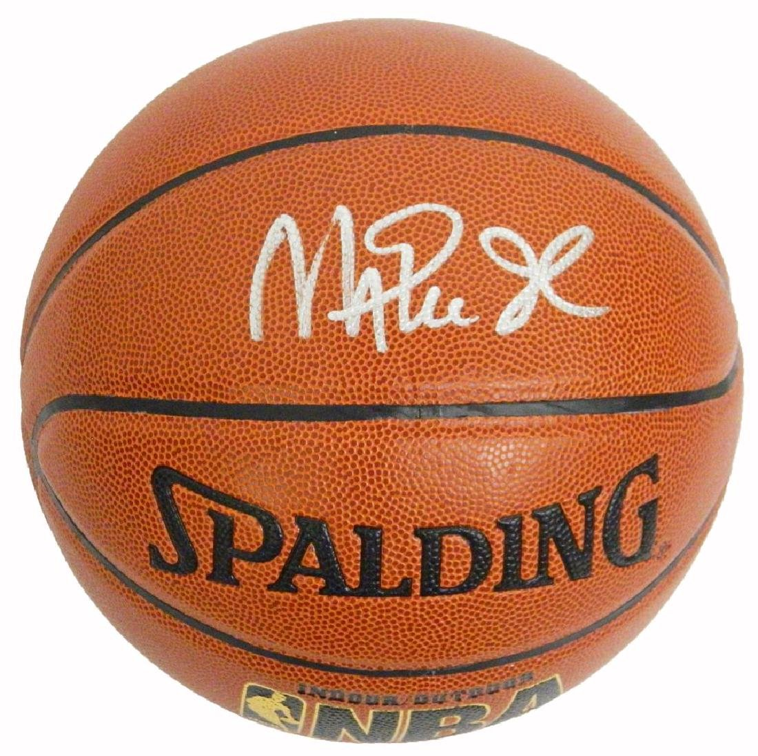 Magic Johnson Signed Spalding Indoor/Outdoor Basketball
