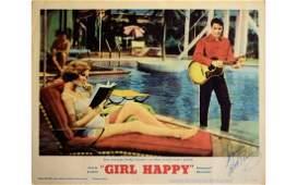 Elvis Presley Signed Girl Happy Lobby Card