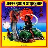 Jefferson Starship Band Signed Spitfire Album
