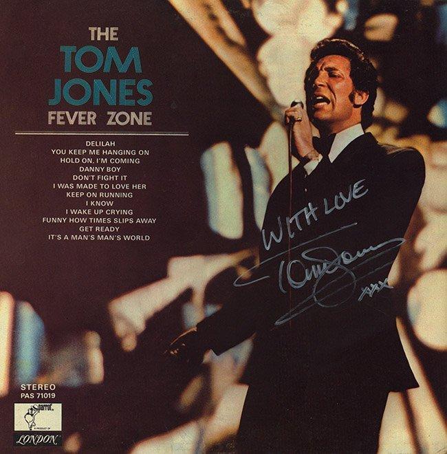 Tom Jones Signed Fever Zone Album