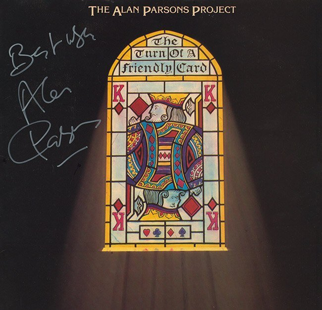 Alan Parsons Project Signed The Turn Of A Friendly Card