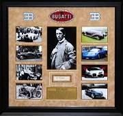 Ettore Bugatti Autographed Collage