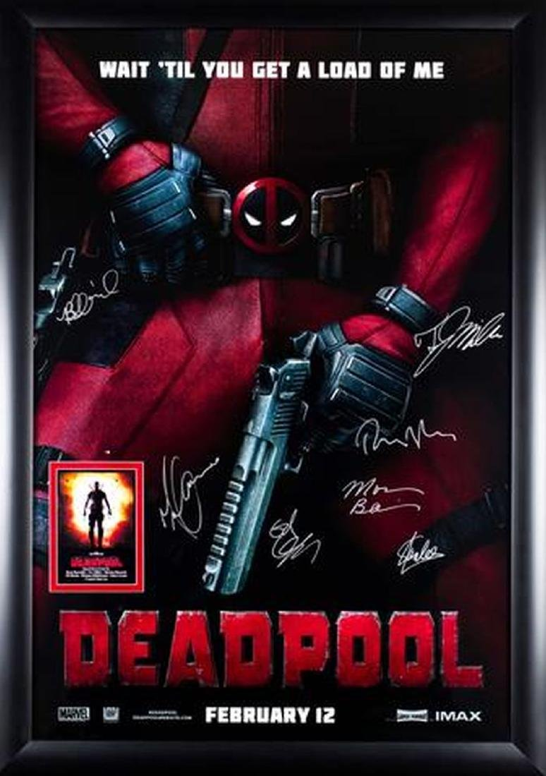 Deadpool - Signed Movie Poster