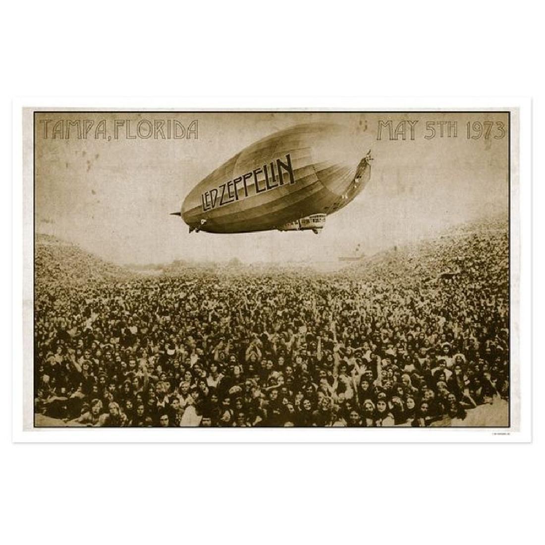 Led Zeppelin Tampa Stadium May 5th 1973 Numbered 24x36