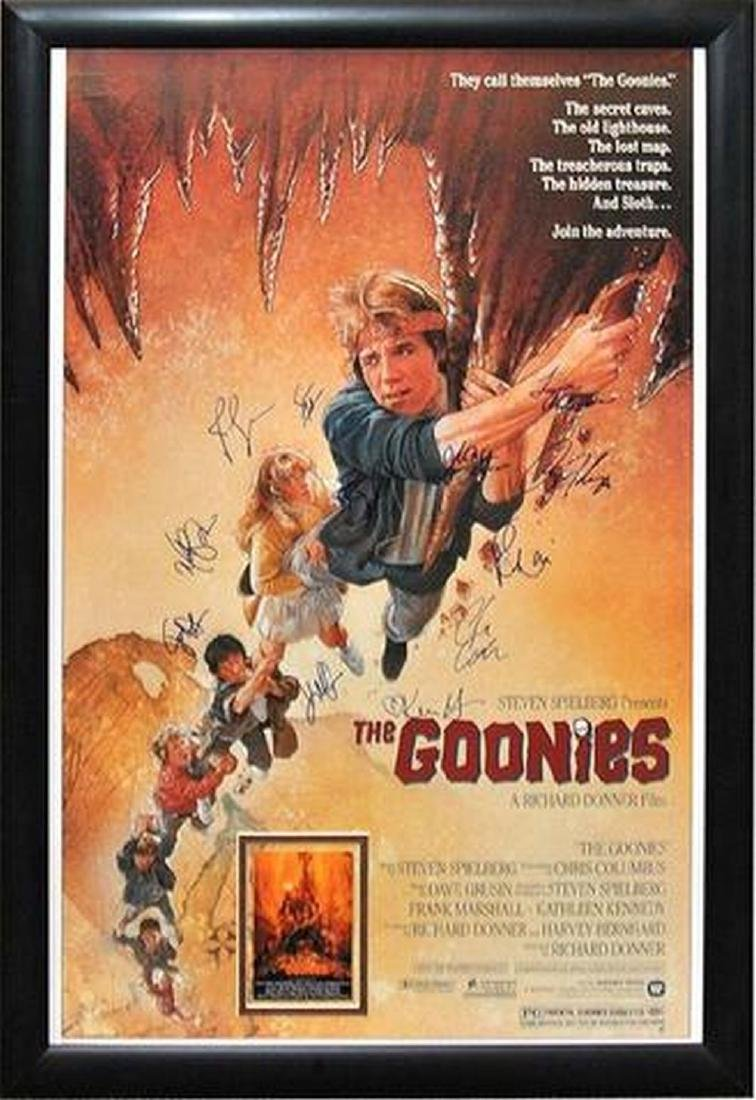 Goonies - Signed Movie Poster