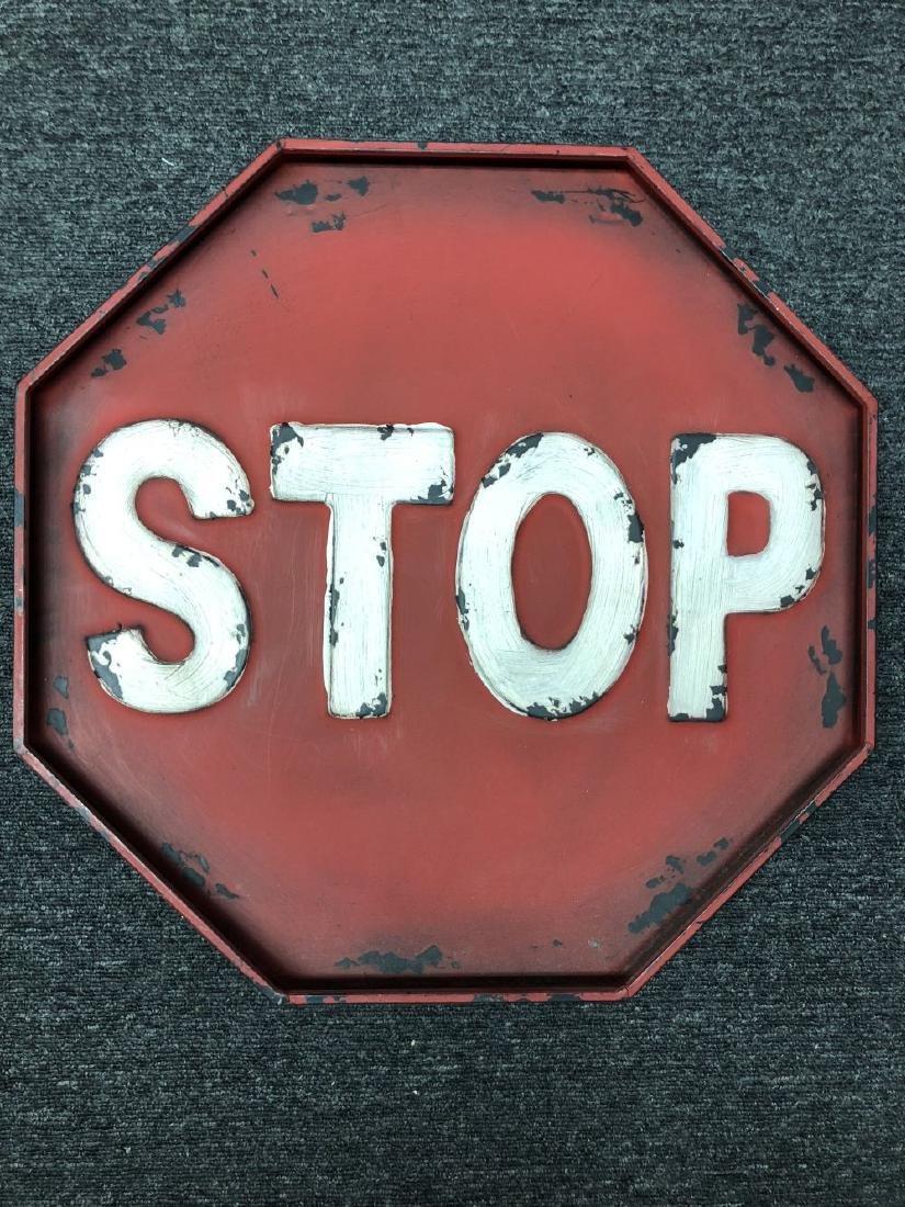 Rustic Stop Sign