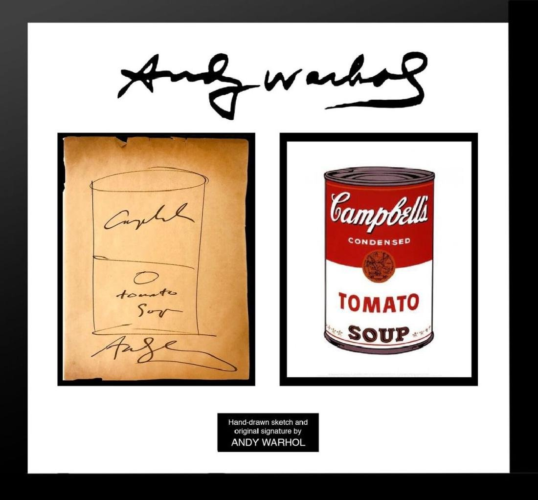 Andy Warhol Original Campbell's Soup Sketch
