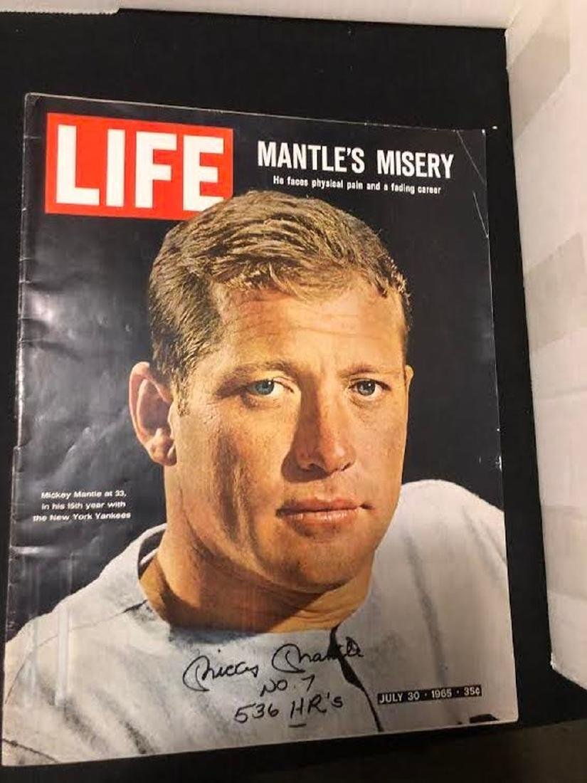 Mickey Mantle Signed 1965 Life Magazine