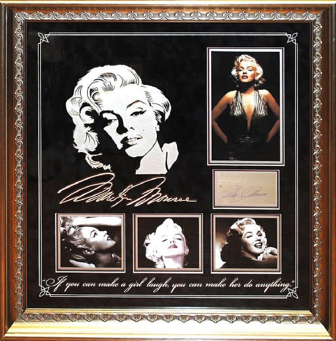 Marilyn Monroe Autographed Collage