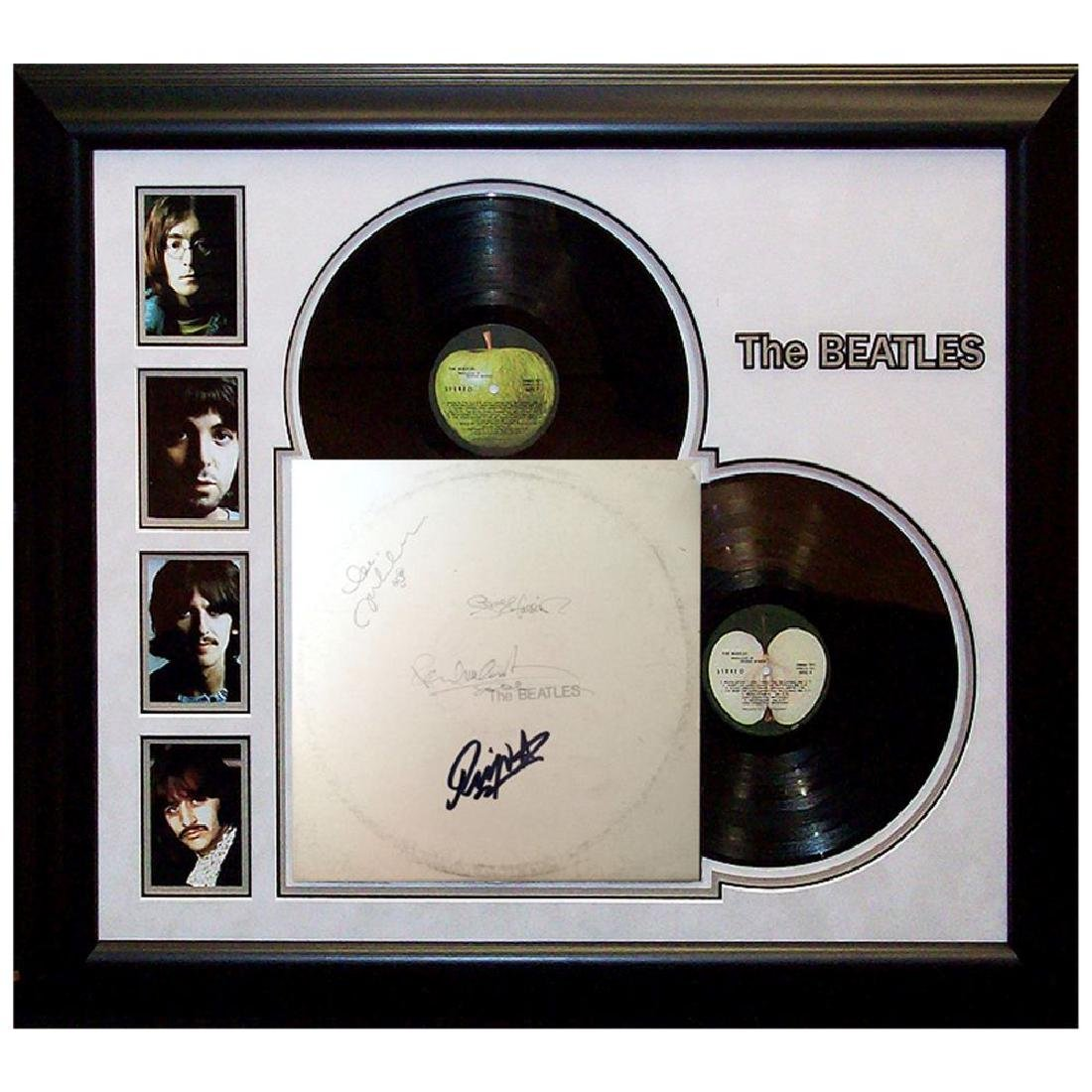 "The Beatles ""White"" Framed and Signed Album"