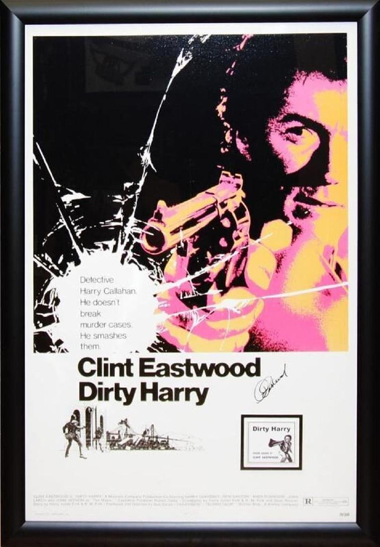 Dirty Harry Signed Movie Poster