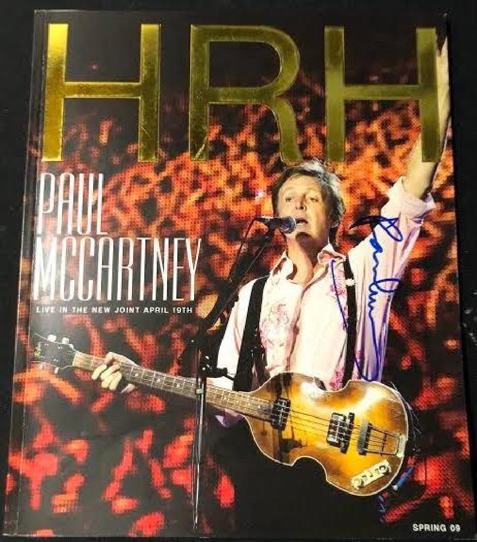 Paul McCartney Signed Spring 09 HRH Magazine