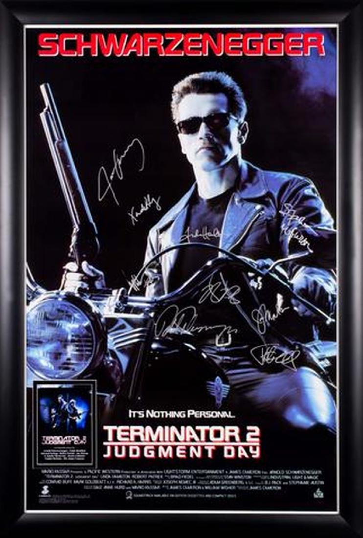 Terminator 2 Judgment Day - Signed Movie Poster