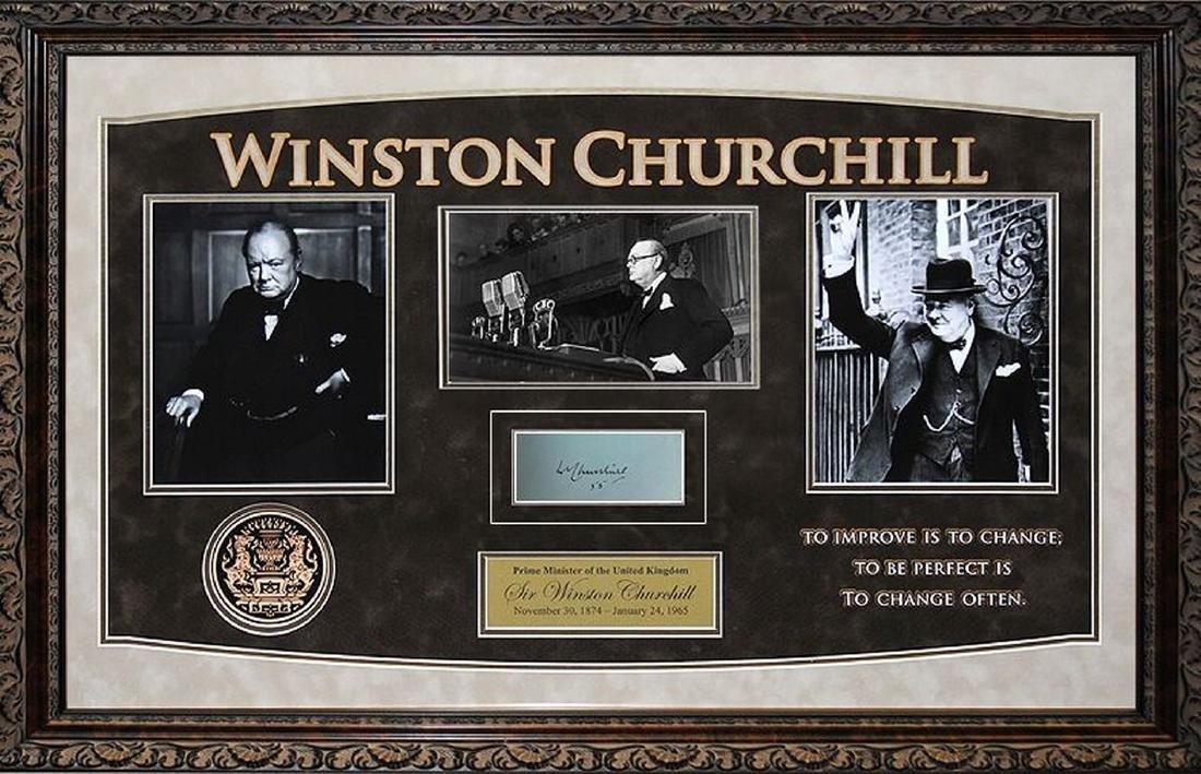 Winston Churchill Autographed Signature Card