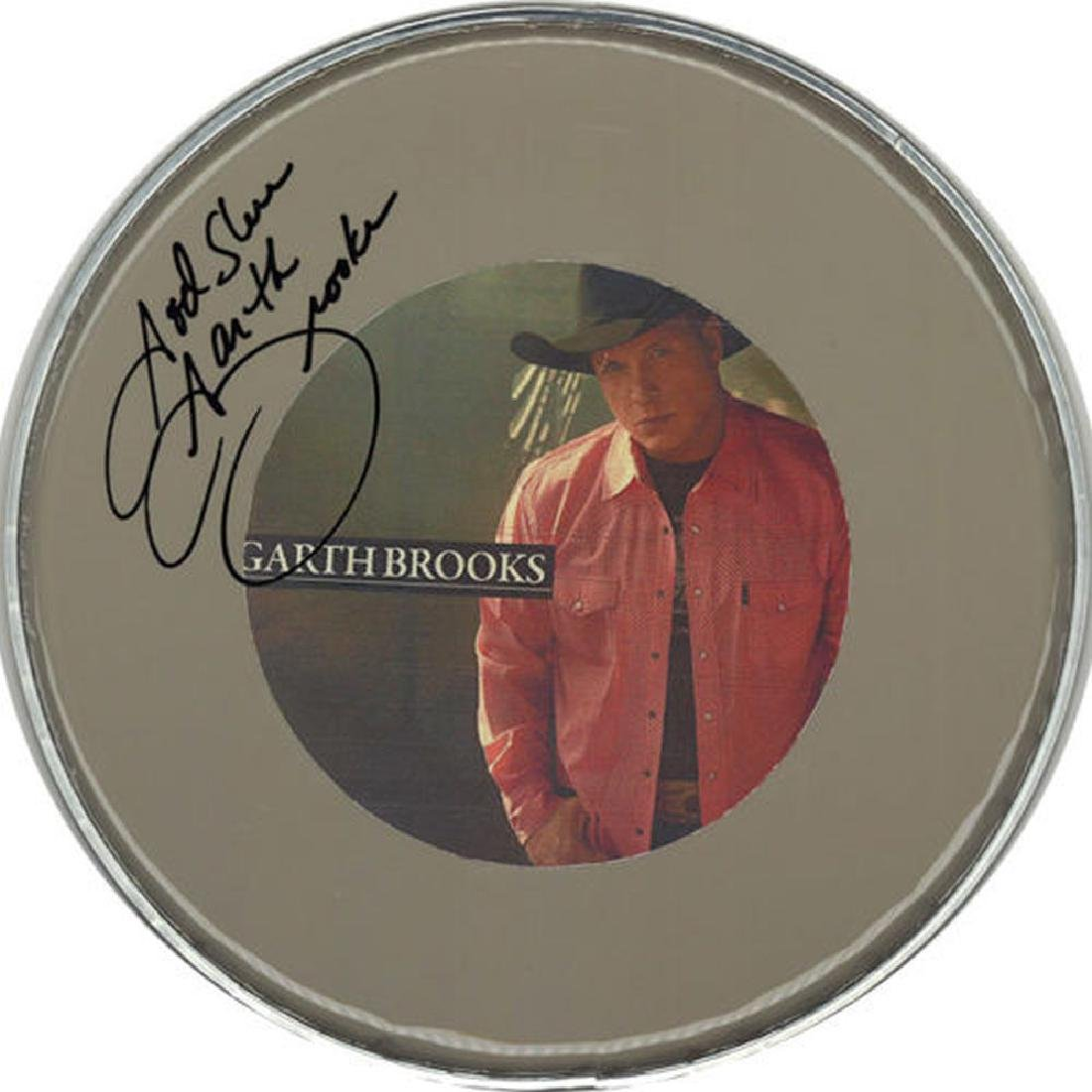 Garth Brooks Signed Drum Head