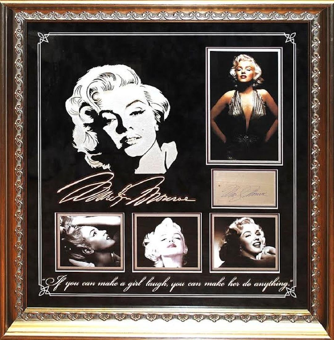 Marilyn Monroe Framed Signature Collage