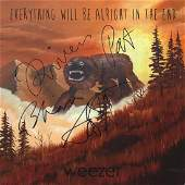 """Weezer Signed """"Everything Will Be Alright In The End"""""""