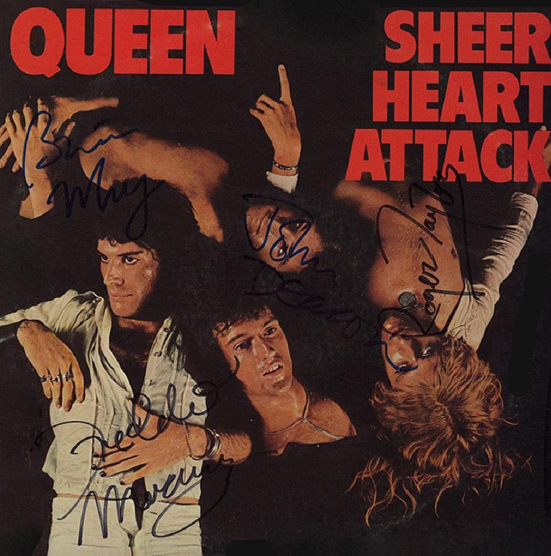 Queen Band Signed Sheer Heart Attack Album